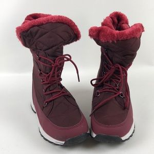 Sociology Artic Boots Faux Fu Winter Shoes Size 9